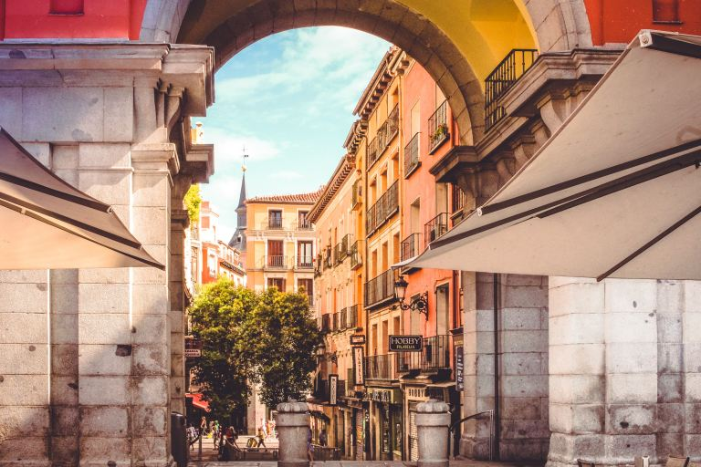 Madrid Plaza Mayor Arch