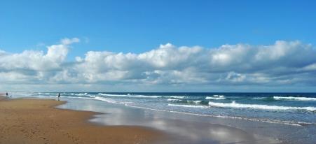 A beach in Cadiz, in the south of Spain