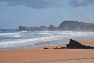 A beach in Cantabria, on the north coast of Spain